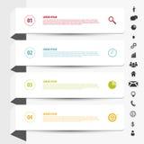 设计干净的横幅模板 与象的Infographics传染媒介 向量例证