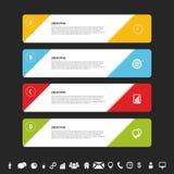 设计干净的横幅模板 Infographics传染媒介 皇族释放例证
