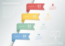 设计干净的infographic模板4步传染媒介eps10 向量例证