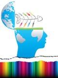 设计开放的头脑 免版税库存图片