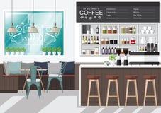 设计您的咖啡店 库存照片