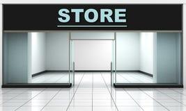 设计您空的eps10外部前介绍产品界面的商店窗口 库存图片
