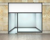 设计您空的eps10外部前介绍产品界面的商店窗口 免版税图库摄影