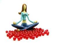 设计成珠状红色妇女 库存照片