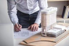 设计或工程项目的, Engin创造性的建筑师 库存图片