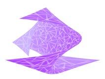 设计扭转的紫罗兰 库存例证