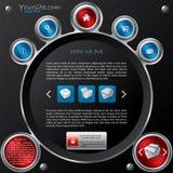 设计技术模板万维网 免版税库存照片