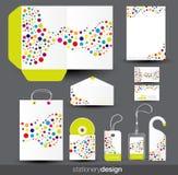 设计文教用品模板 免版税库存照片