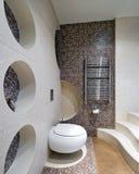 设计新的空间洗手间 免版税库存照片