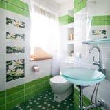设计新的空间洗手间 免版税库存图片