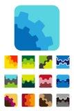 设计方形的商标元素 免版税库存照片