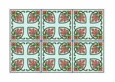 设计方形绿松石 免版税库存图片