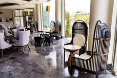 设计旅馆内部大厅 库存图片