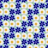 设计无缝的五颜六色的花卉装饰样式 免版税图库摄影