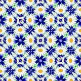 设计无缝的五颜六色的花装饰样式 库存照片