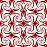 设计无缝的五颜六色的螺旋几何样式 图库摄影