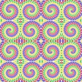 设计无缝的五颜六色的螺旋运动样式 库存图片