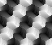 设计无缝的六角形几何样式 免版税库存图片