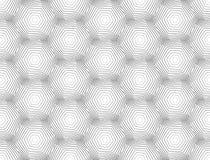 设计无缝的单色六角形样式 免版税库存照片