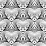 设计无缝的单色条纹图形 库存照片