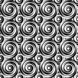 设计无缝的单色漩涡样式。Uncolore 免版税库存照片