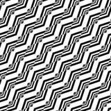 设计无缝的单色Z形图案 免版税库存照片