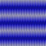 设计无缝的蓝色水平的被编织的样式。T 库存照片
