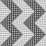 设计无缝的黑白照片翘曲的Z形图案 免版税库存图片