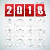 设计日历2018年 免版税库存图片