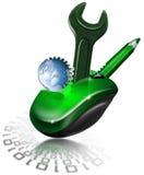 设计机械鼠标 免版税库存照片