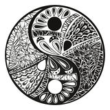 设计标志例证的尹杨纹身花刺 免版税库存照片