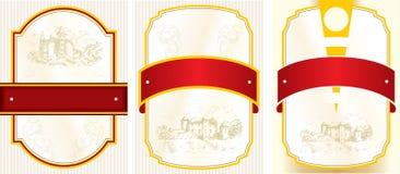 设计标签伏特加酒 免版税库存图片
