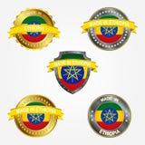 设计标签做在埃塞俄比亚 也corel凹道例证向量 库存例证