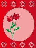 设计框架红色玫瑰色模板 免版税库存照片