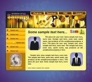 设计模板网站 图库摄影