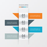 设计横幅现代橙色,蓝色,灰色颜色 皇族释放例证