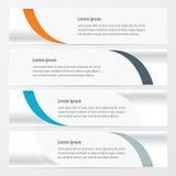 设计橙色传染媒介的横幅,蓝色,灰色颜色 免版税图库摄影