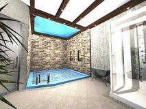 设计池游泳 免版税图库摄影