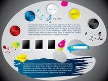 设计油漆调色板模板网站 免版税库存图片