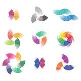 设计波浪商标元素 免版税库存图片