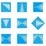 设计波浪圆的传染媒介商标模板 免版税库存照片