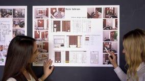 设计演播室建筑师创造性的职业会议图纸概念20s 股票视频