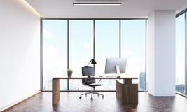 设计演播室head& x27; s办公室 向量例证