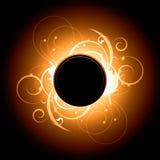 设计火光太阳漩涡 库存图片
