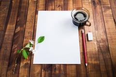 设计火笔记本模板写您 库存图片