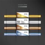设计版面横幅金子,古铜,银,蓝色颜色梯度 库存例证