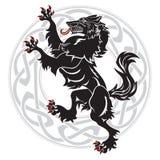 设计狼人和凯尔特斯堪的纳维亚装饰品 库存例证