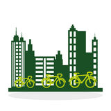 设计生态好模式向量 保护和绿色概念 免版税库存图片