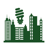 设计生态好模式向量 保护和绿色概念 库存图片