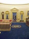 设计由纽约建筑师詹姆斯Polshek,威廉J.克林顿总统图书馆开张2004年11月17日 克林顿总统图书馆包括白宫椭圆形办公室的复制品 免版税图库摄影